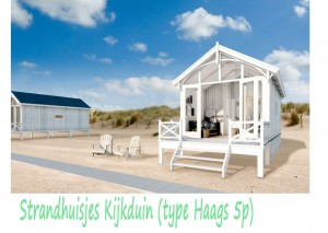 Strandhuisjes Kijkduin type Haags 2-5p