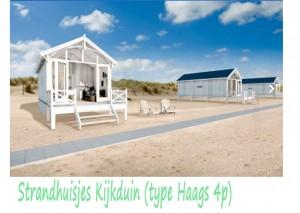 Strandhuisjes Kijkduin type Haags 2-4p